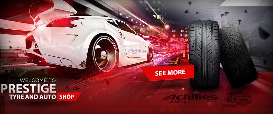 Magento based ecommerce web design for Prestige Tyres