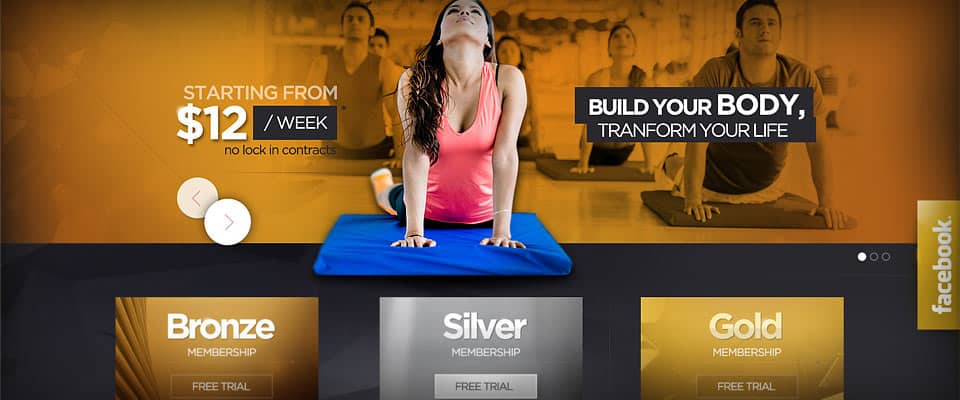WordPress website design services for Rileys Gym