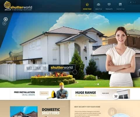 Custom WordPress website for Shutterworld