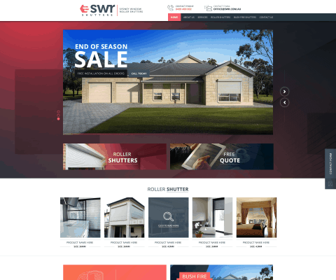 Magento Web design for coast shutters