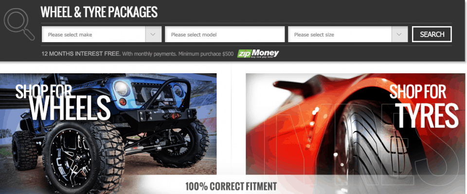 Magento based ecommerce web design for Tableb Tyres